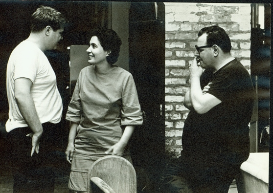 ALLAN JAFFE WITH HIS WIFE SANDRA AND LARRY BORENSTEIN, OWNER OF THE BUILDING AT 726 ST. PETER STREET