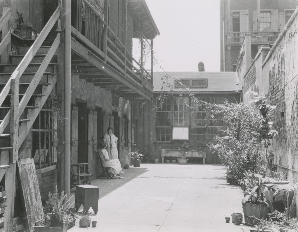 THE COURTYARD AT 726 ST. PETER STREET, 1920