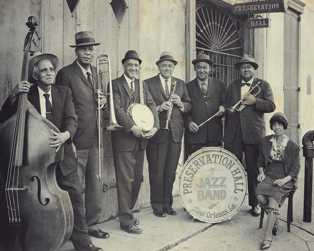 Sweet Emma Barrett (right) and her Preservation Hall Jazz Band (1964)