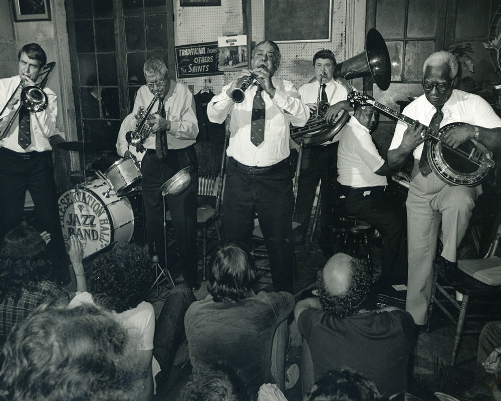 WILLIE AND PERCY HUMPHREY'S BAND AT PRESERVATION HALL, 1975